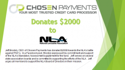 Chosen Payments supports the efforts of the NLA to battle unregulated TNC issues.
